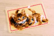 Vervaco Latch Hook Rug Kit Kittens