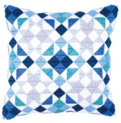 Vervaco Long Stitch Cushion Kit Triangles