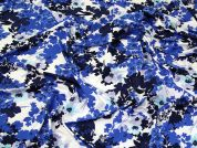John Kaldor Floral Print Stretch Jersey Knit Dress Fabric  Blue