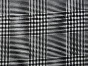 Prince of Wales Check Suiting Dress Fabric  Black & White