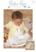 Peter Pan Baby Matinee Coat & Bonnet Crochet Pattern 1023  DK