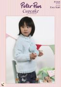 Peter Pan Childrens Sweaters Cupcake Knitting Pattern 1040  DK