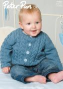 Peter Pan Baby Cardigan Knitting Pattern 1062  DK