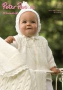 Peter Pan Baby Matinee Coat, Hood & Blanket Moondust Knitting Pattern 1104  DK