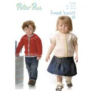 Peter Pan Childrens Cardigans Knitting Pattern 1122  DK