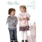 Peter Pan Childrens Sweater & Top Knitting Pattern 1123  DK
