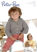 Peter Pan Baby Jackets Knitting Pattern 1136  DK