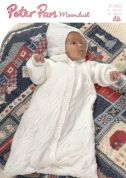 Peter Pan Baby Snuggle Bags Moondust Knitting Pattern 1140  DK