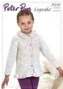 Peter Pan Girls Tunic & Cardigan Cupcake Knitting Pattern 1150  DK