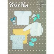 Peter Pan Baby Tops, Cardigans & Booties Knitting Pattern 1152  DK