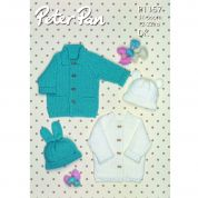 Peter Pan Baby Coats & Hats Knitting Pattern 1157  DK