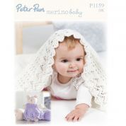 Peter Pan Baby Blanket & Teddy Merino Baby Knitting Pattern 1159  DK