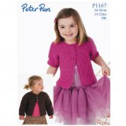 Peter Pan Girls Cardigans Knitting Pattern 1167  DK