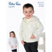 Peter Pan Childrens Hooded Jacket & Hoodie Cupcake Knitting Pattern 1171  DK