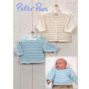 Peter Pan Baby Cardigan & Sweater Knitting Pattern 1178  DK