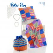 Peter Pan Home Patchwork Blanket, Cushion & Bag Knitting Pattern 1188  DK