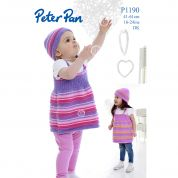 Peter Pan Baby Pinafore Dresses & Hats Knitting Pattern 1190  DK