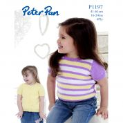Peter Pan Girls Cardigan & Sweater Knitting Pattern 1197  4 Ply