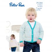 Peter Pan Childrens Cardigan & Sweater Cupcake Knitting Pattern 1204  DK
