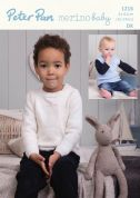Peter Pan Baby & Childrens Sweater & Tank Top Knitting Pattern 1216  DK