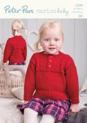 Peter Pan Childrens Sweater Knitting Pattern 1220  DK