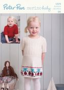 Peter Pan Baby & Childrens Sweater & Dress Knitting Pattern 1223  DK