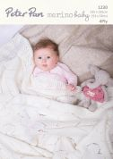 Peter Pan Baby Blanket Merino Baby Knitting Pattern 1230  4 Ply