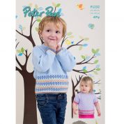 Peter Pan Childrens Sweaters Knitting Pattern 1232  4 Ply