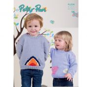 Peter Pan Childrens Mouse & Shark Sweaters Knitting Pattern 1239  DK