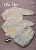 Peter Pan Baby Sweater, Cardigan & Waistcoat Knitting Pattern 1245  DK