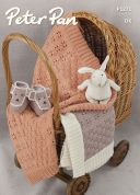 Peter Pan Baby Blankets & Teddy Boots Merino Knitting Pattern 1271  DK