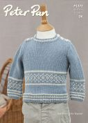Peter Pan Baby Sweater & Slipover Merino Knitting Pattern 1272  DK