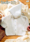 Peter Pan Baby Hooded Jacket Knitting Pattern 827  DK