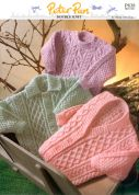 Peter Pan Baby Sweaters & Cardigans Knitting Pattern 838  DK