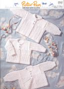 Peter Pan Baby Premature Cardigans Knitting Pattern 843  4 Ply, DK
