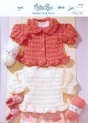 Peter Pan Baby Sweater & Cardigan Knitting Pattern 966  DK