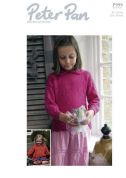 Peter Pan Girls Cardigan & Sweater Knitting Pattern 999  DK
