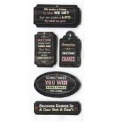 Inspirational Chalk Tag Toppers What we Give