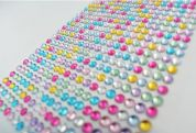 Stick-On Self Adhesive Diamantes  Assorted