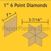 6 Point Diamonds Paper Pieces