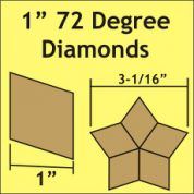 72 Degree Diamonds Paper Pieces
