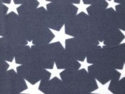 Stars Fleece Fabric  Grey
