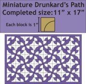 Paper Pieces Miniature Drunkards Path Wall Hanging English Paper Piecing Pattern & Paper Pieces