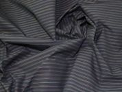 Lady McElroy Pinstripe Suiting Fabric  Multi on Black