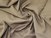 Lady McElroy Stripe Stretch Suiting Fabric  Beige