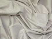 Lady McElroy Stripey Cotton Shirting Fabric  White & Beige