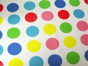 Circles Print Plastic Coated PVC Table Protector Fabric  Multicoloured