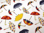 Umbrellas Print Plastic Coated PVC Table Protector Fabric  Multicoloured