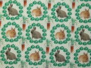 Little Rabbits Collection Cotton Fabric