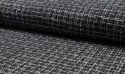 Tweed Coating Fabric  Black